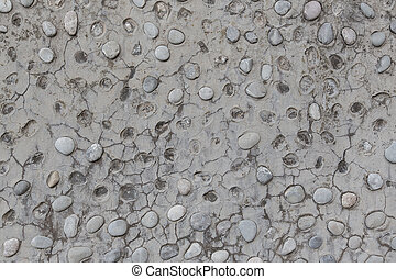 Wall with coarse large pebbles