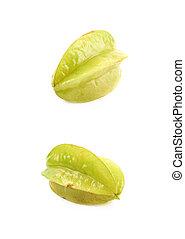 Carambola fruit isolated over the white background