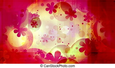 New retro looping animated flowers and shapes background