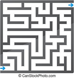 Small gray maze Vector illustration