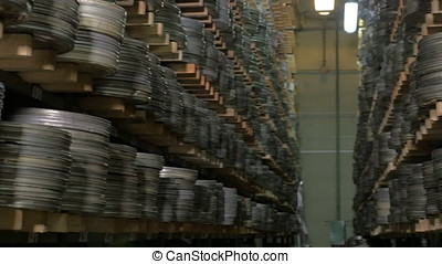 Huge collection of film videotapes. - A great number of film...