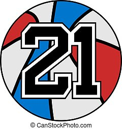 21 basket - creative design of ball of basketball with the...