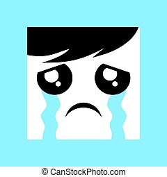 cry expression icon - creative design of cry expression