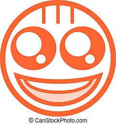 happy face flat icon - design of happy face flat icon