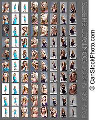 fashion shoot contact sheet .