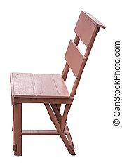Simplistic wooden chair. - Simplistic wooden chair on white...