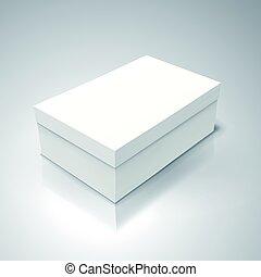 tilt blank paper box - white flat tilt blank box, isolated...