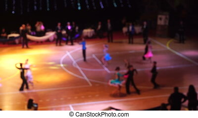 background with ballroom dancers - blured background with...