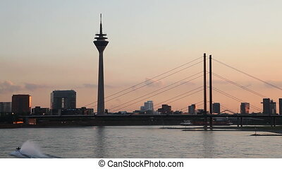 Dusseldorf, Germany - The Skyline of D?sseldorf on the Rhine