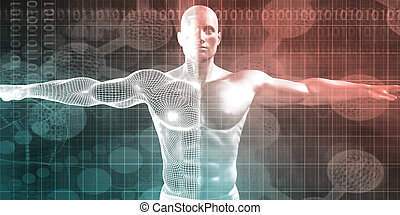 Human Body Presentation Background for Medical Anatomy Art