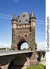 nibelungentower worms germany - famous old nibelungen tower...