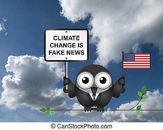 Climate change - Comical American climate change denial...