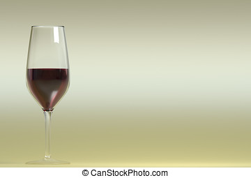 Realistic cup of red wine - A cup of red wine. realistic...