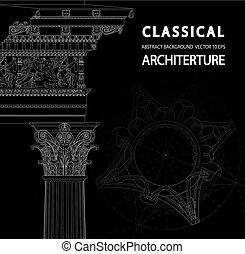 Classical architecture background.