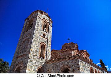 Exterior view of St. Panteleimon in Ohrid, Macedonia.