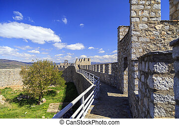 The historical fortress of Tsar Samuel on the hill top in...