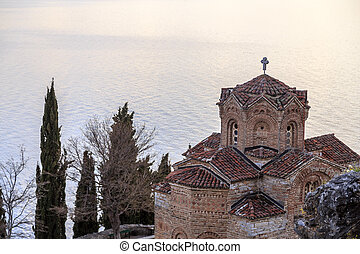 Cliff-top church of Saint Joan at Kaneo or St. Jovan Kaneo...