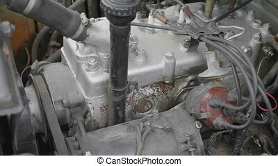 Internal combustion engine of a car close-up. UltraHD stock footage.