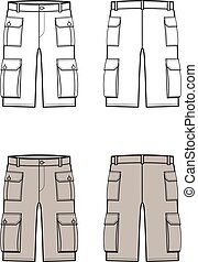 Shorts - Vector illustration of shorts. Front and back....