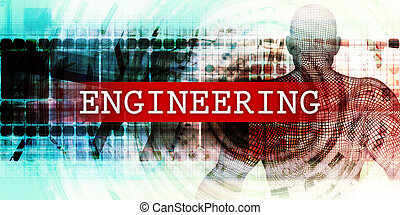 Engineering Sector with Industrial Tech Concept Art
