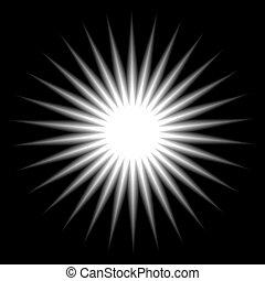 Element sun rays - Radial white explosion. Element sun rays,...