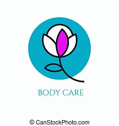 Logo body care for cosmetic products, beauty salon, massage....