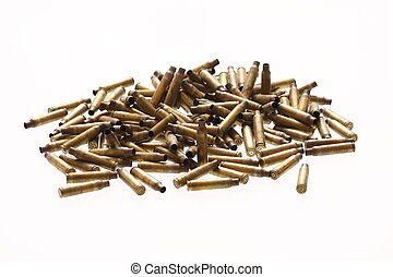 Spent bullet casings - Pile of spent bullet casings