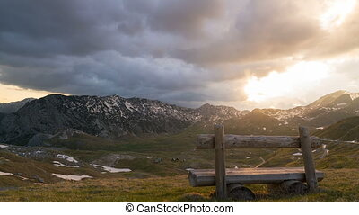 Montenegro, national park Durmitor, sunset in mountains time...