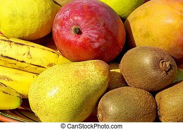 Colored fruits basket.
