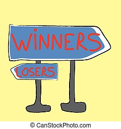 Winners and losers - Directions to winners and losers,...