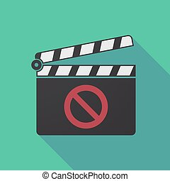 Long shadow clapper board with
