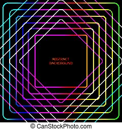Neon lined abstract template