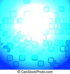 Techno abstract multitude effects - Random square techno...