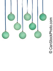 Blue Balls Decoration - Christmas blue balls decoration;...