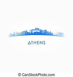 Athens skyline silhouette.