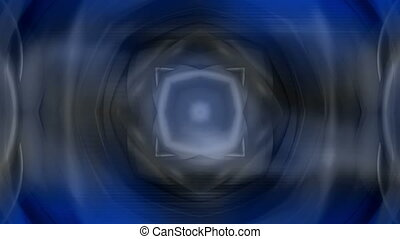 Abstract geometric kaleidoscopic blue gray animated...