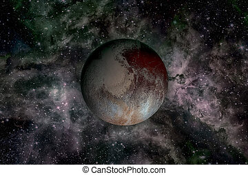 Solar System - planet Pluto. - Solar System - Pluto. It is a...