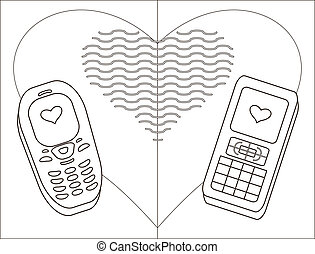 Mobile phones-enamoured, contours - Enamored mobile phones...