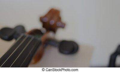 old violin slider details
