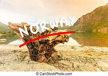 Mountains and fjord in Norway, - Tourism vacation and...