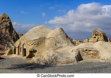 Rock formations at Cappadocia, Anatolia, Turkey - Beautiful...
