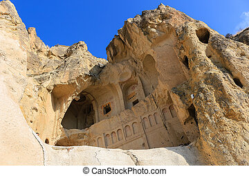 Church in the Rock formations at Cappadocia, Anatolia,...