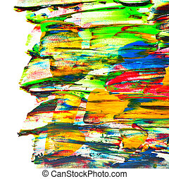 Colourful oil painted texture