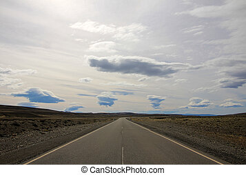 Endless scenic route ruta 40 in Patagonia, Argentina