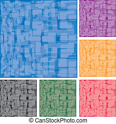 Set of abstract colorful spotted backgrounds, part 15, vector illustration