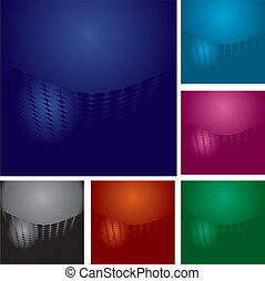 Set of abstract colorful backgrounds with dots and lights,...