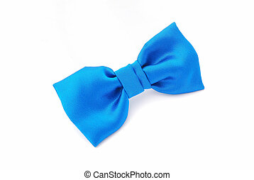 Bow tie - A little boys blue bow tie Image isolated on white...