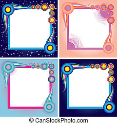 Set of abstract colorful backgrounds, part ,21 vector illustration