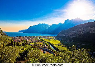 Torbole and Lago di Garda view