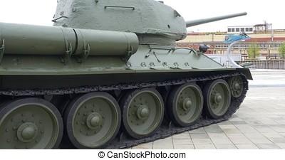 Soviet WW2 middle tank t-34. Tank of WWII t-34 4K